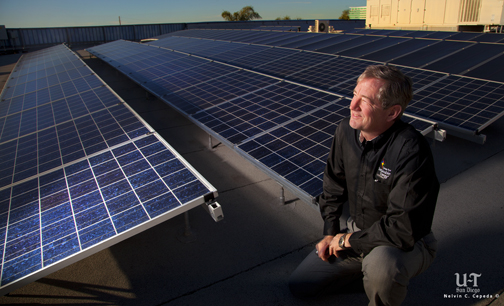 Retired Navy Rear Adm. Len Hering, the new executive director at the California Center for Sustainable Energy.